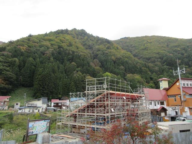 檜枝岐村集会場の施工状況